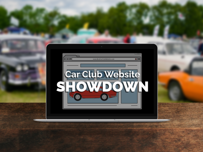 Car Club Website Showdown Header