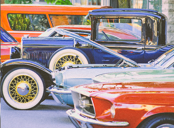 Collector Cars at a show
