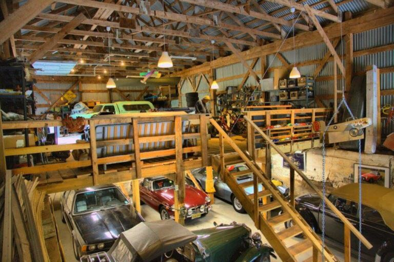 Collector Car Garage Above