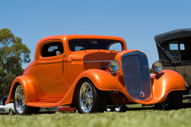 orange hot rod custom car insurance policy features