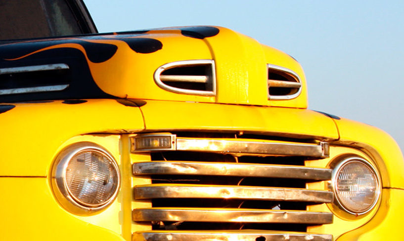 yellow hot rod custom car insurance policy features